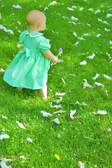 Cotton Candy (boopsie.daisy) Tags: baby cute green nature grass pretty candy sweet adorable sadie cotton barefoot lollipop instantfave top20green flickrdiamond cottonclumps