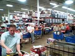 Yesterday, I spent 38 minutes in the CHECKOUT line at this  Sam's club in Provo, Utah. Four of 16 checkout lanes were open.