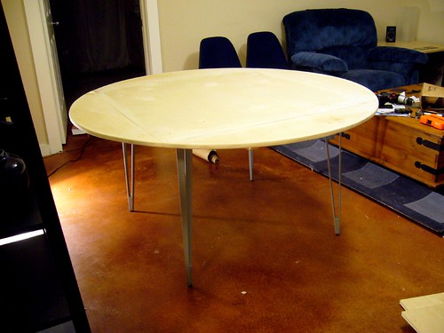 Dining Table, Finished, Upright