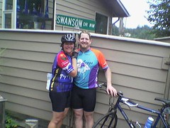 K and I biked to Gig on Sat. and back on Sun.
