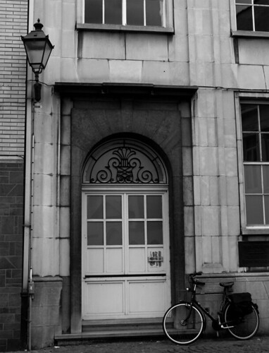 A door and a bike...