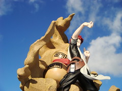 Kazekage in Action! (katsuboy) Tags: anime japan toys naruto figures gaara jfigure toynami sandcoffin sabakukyu