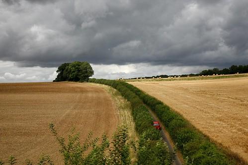 summer clouds harvest straw bales redcar arlesford ropley watercressline canonef24105mmf4lisusm