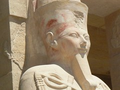 ancient egypt in colour (cardbush) Tags: africa red temple paint egypt queen nile egyptian pharaoh ochre thebes hatshepsut hieroglyph osirid