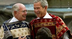 John Howard and George Bush (oghab_e_iran  ) Tags: usa newyork love freedom virginia dc washington bush war peace unitedstates mr iran god islam iraq great sydney mother terrorist australia tehran  luray bless      haward          amrica  khomeini   zeyneb sepah                semocracy