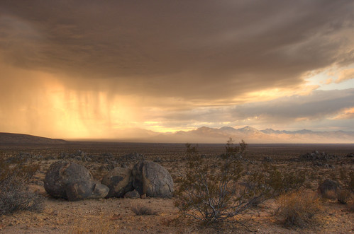Storm Cell at Sunset