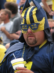 Super Fan! (bekahlp) Tags: oregon football michigan annarbor bighouse universityofmichigan superfan wolverines big10 goblue maizeandblue
