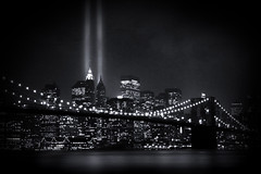 WTC Tribute in Lights - 6 years after the attack (noamgalai) Tags: nyc bridge light ny newyork brooklyn night buildings river photography lights photo downtown worldtradecenter picture 9 11 beam photograph brooklynbridge twintowers wtc hudson tributeinlight   allrightsreserved   photomania  noamg tributeinlights noamgalai    wwwnoamgalaicom sitelandscapes    sitemain