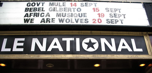 GOV'T MULE on Le National marquee