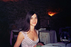 at Dvorec Zemono, Vipava, Slovenia (romanalilic) Tags: birthday food black castle girl beauty smile smiling neck cuisine restaurant wine best celebration excellent haired pri vino moles vipava zemono dvorec restavracija lojzetu