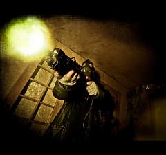 "335 - / 365 "" and Hell's coming with me ..."" (Drummy ) Tags: dark fire intense action destruction photoshopped badass perspective apocalypse dramatic story weapon theme imagination series gasmask 365 shotgun cinematic 1022mm apocalyptic firepower gunfire themeoftheweek drummy endworld shmobist imaginingmyownworld"