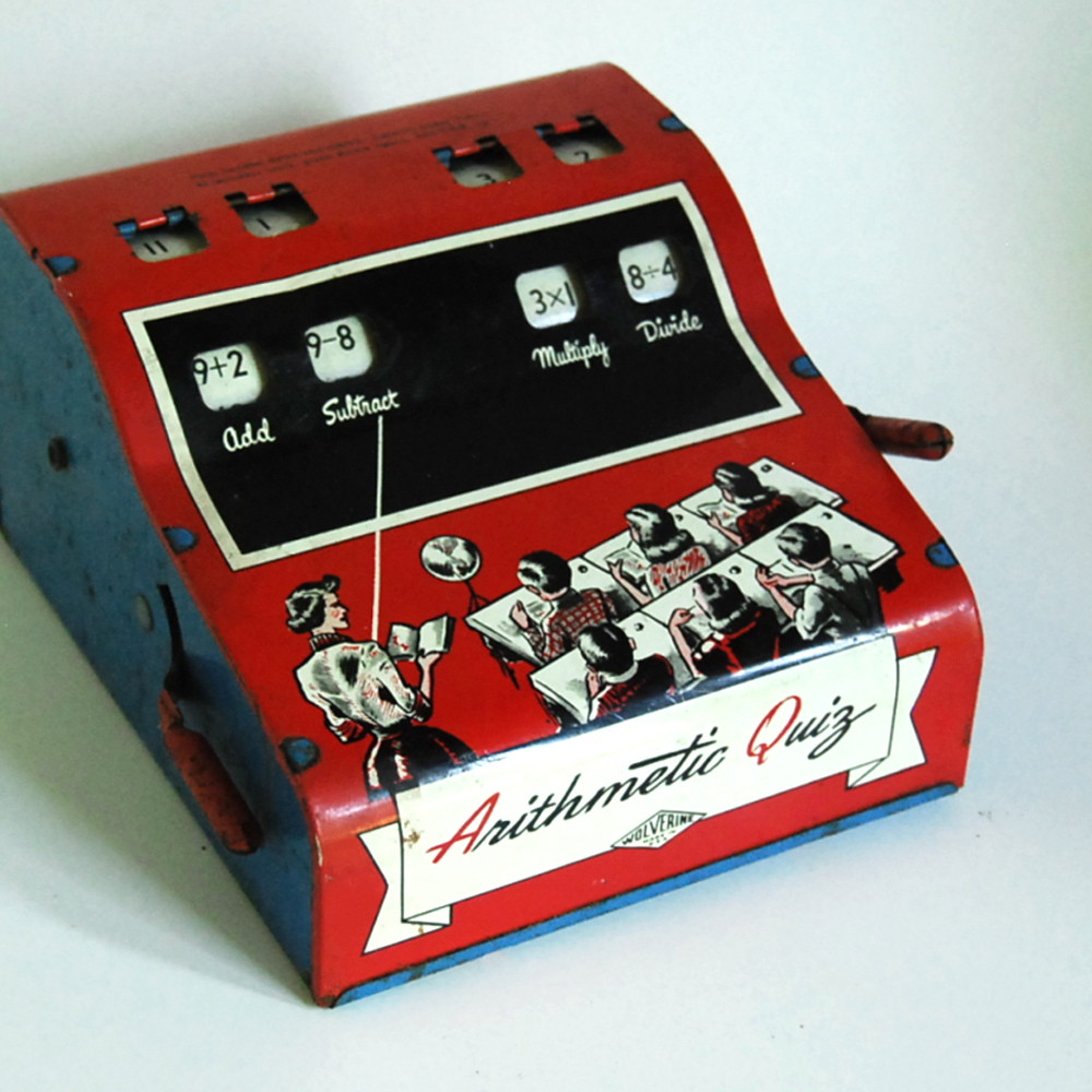 1950s Arithmetic Quiz Vintage Tin Toy By Wolverine