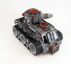 Blood Skull V6 Battle-Tank (Titolian) Tags: skull blood war gun tank lego space awesome machine battle best future pilot m4 treads brickarms