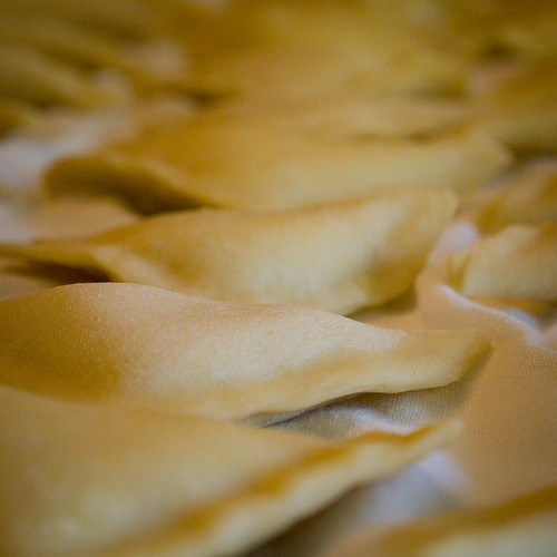 Drying Pierogies.