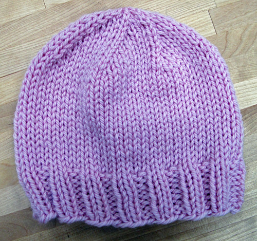 Knitting in the Round Baby Hat Project