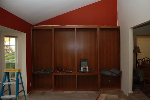Bookshelf Install: Day 1