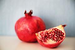 Pomegranate (nadia  bolshakova) Tags: red food fruit colorful bokeh pomegranate naturallight