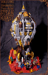 Aether traveler (captainsmog) Tags: red mars plants crystals rivets lego parts vessel steam landing astronauts copper rocket hatch custom explorers exploration brass gears vignette diorama martian steampunk mocs moc