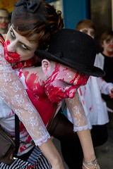 Brighton Zombie Walk 2010 - Piggy Back (smileham) Tags: halloween walking dead brighton zombie walk horror undead zombies