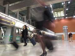 Underground (Georgios S.) Tags: underground spain peoplerushing madridbarajasinternationalairport