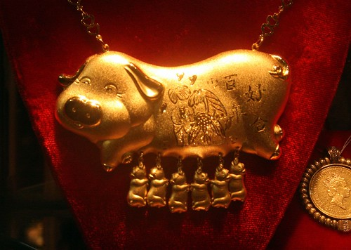 And golden pigs