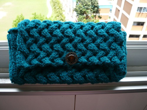 Knitted Clutch Pattern : knits by TLP.... and crochet too!: Coco clutch
