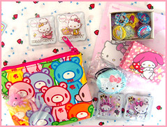 Sanrio Matchbox Swap / Recieved (Hailey Kitten) Tags: pink cute hellokitty sanrio swap kawaii gloomybear goodies matchbox charmmykitty swapbot sanriomatchboxswap