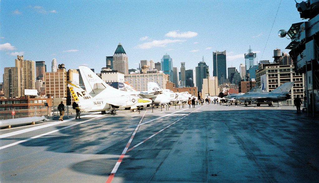 Flight Deck, USS Intrepid, Sea, Air & Space Museum, New York City.