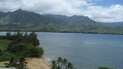 The amazing view from the Princeville Hotel. (07/11/07)