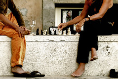 chess, wine and barefoot - by [auro]