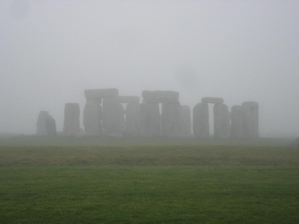 Stonehenge in the fog - photo by gorbulas sandybanks