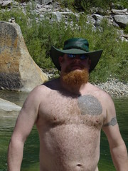 Yuba River SkinnyDipping July 2007 (BentWright) Tags: bear hairy wet beard ginger furry drew skinnydipping yubariver