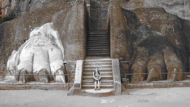 lion platform, sigiriya rock