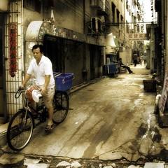 Chinese Streetscene (siebe ) Tags: china street bicycle chinese explore shenzhen aplusphoto