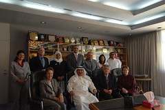 Audit team and the administrative team at University of Bahrain