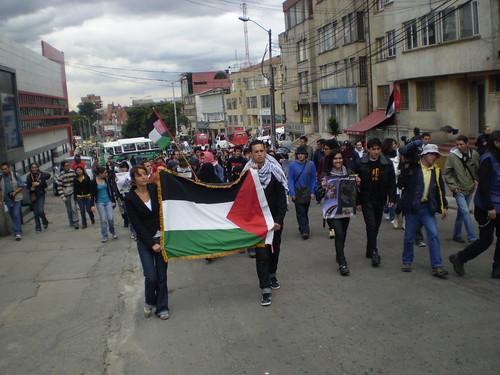 Marcha apoyo a Palestina / Gaza en Bogotá, Colombia - 1061666
