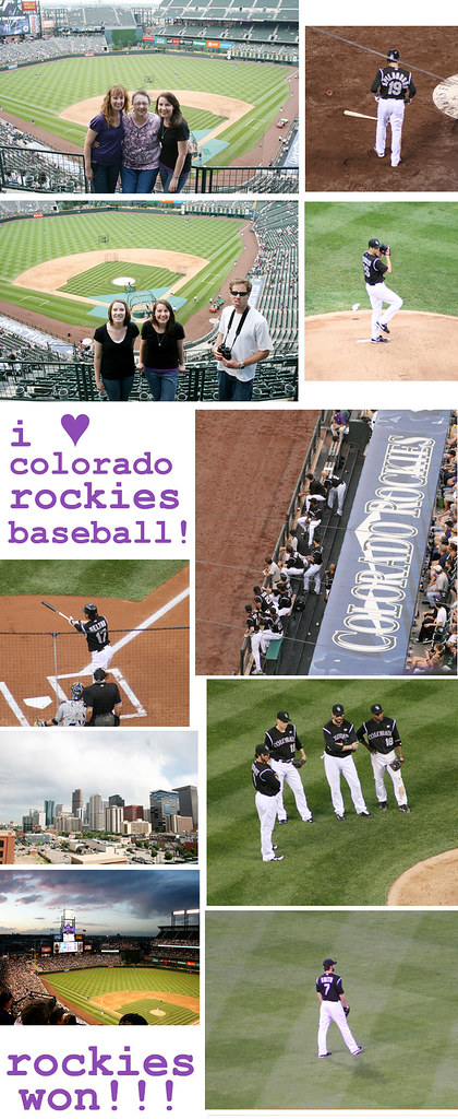 rockies baseball collage