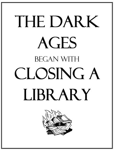 The Dark Ages began with closing a library
