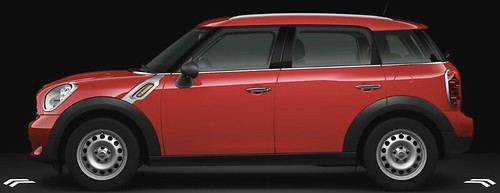 MINI Countryman in Pure Red with steel wheels
