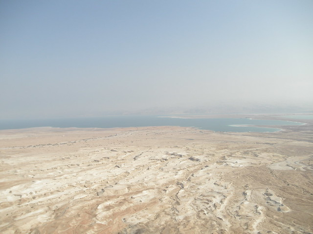 View of the Dead Sea from Masada