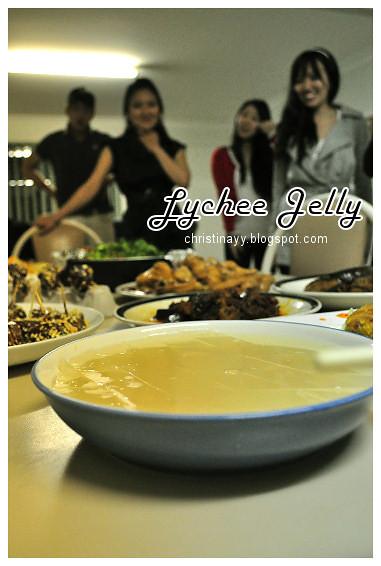 Shaine's Farewell Dinner: Lychee Jelly
