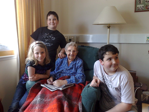 Great Grandma and the kids