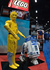 LEGO C-3PO and R2-D2 (hjw3001) Tags: party movie fun starwars lego anniversary celebration r2d2 convention fans c3po