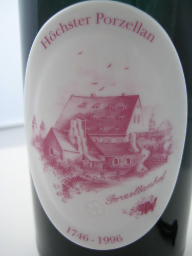 Porcelaine labeled Riesling