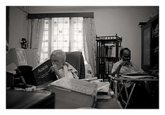 Thatha in his office 2 (sidsiva) Tags: portrait india studio justice office dubai photographer madras uae assignment emirates commercial chennai siva tamilnadu padmanabhan thatha siddharth