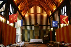 Great Hall (-CalluM-) Tags: old uk roof england house color colour table hall king great flags tudor lincolnshire henry tiles banquet viii manor beams throne gainsborough