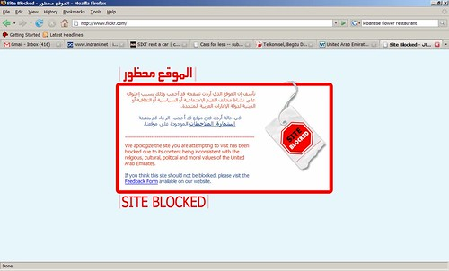 Flickr: Indrani Soemardjan - Flickr Blocked in UAE