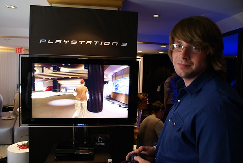 Colin in the Gaming Lounge @ E3