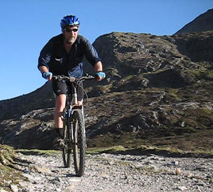 Mountain biking near Corrour