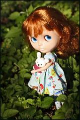 3/10 Kozy felt a little like Red Riding Hood... (rockymountainroz) Tags: bunny star barbie maryjanes takara kozy squeakymonkey kozykape dollsville bl5 neoblythe elley74 ardentcurse